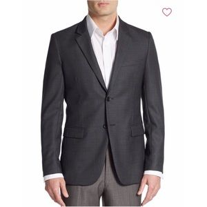 Theory regular fit wool sportcoat charcoal size 36